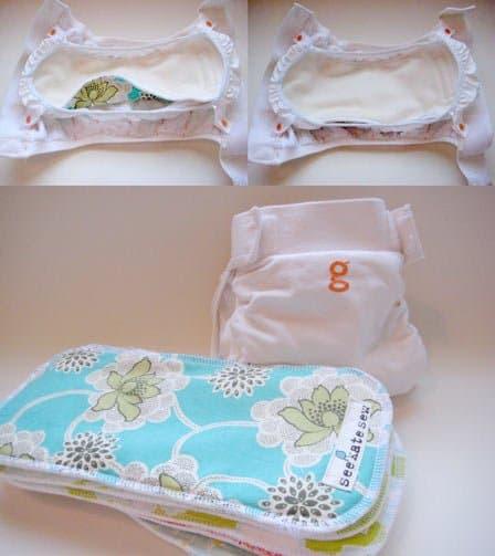 handmade gDiaper cloth insert tutorial | cloth diaper insert pattern | how to make a cloth diaper insert || See Kate Sew #clothdiaper #diyclothdiaper #diaperinsert