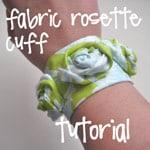fabric rosette cuff
