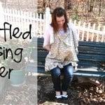ruffled nursing cover tutorial