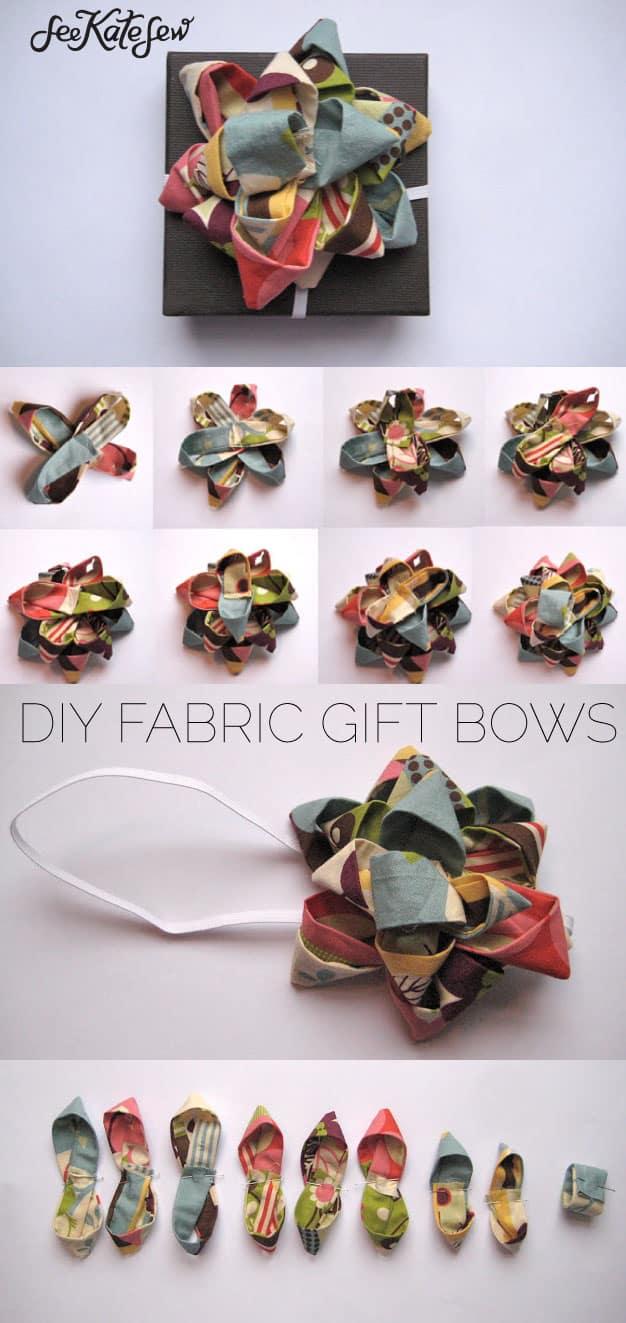 DIY Fabric Gift Bows | See Kate Sew