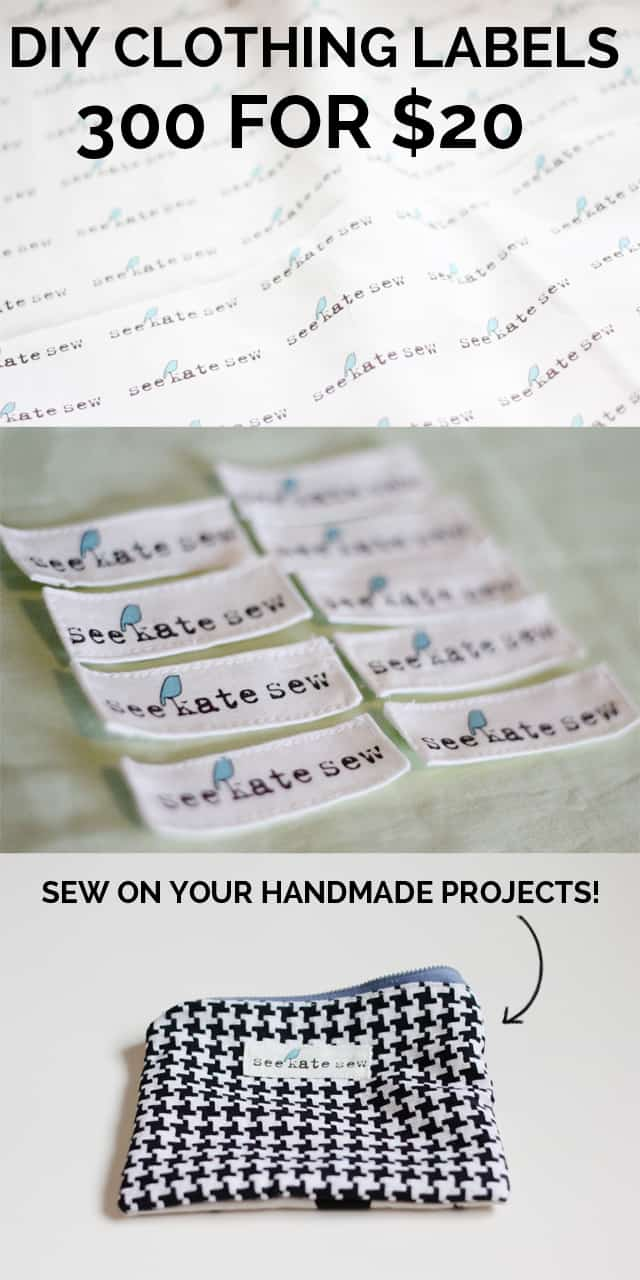 DIY Clothing Labels | clothing label diy | how to make your own clothing labels | sewing tips and tricks | sewing hacks | 300 clothing labels for $20! | diy clothing tags | homemade clothing labels || See Kate Sew #clothinglabels #clothingtags #diyclothingtags