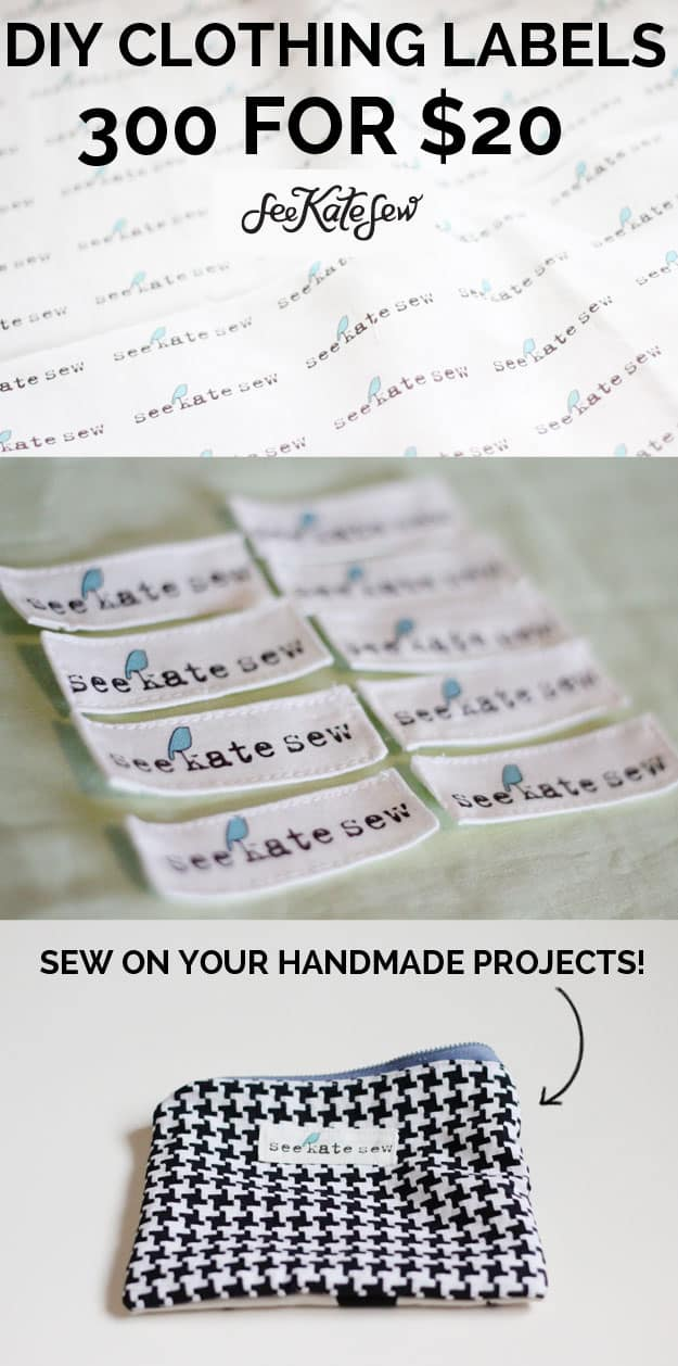 DIY Clothing Labels | See Kate Sew