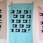 silkscreened fabric