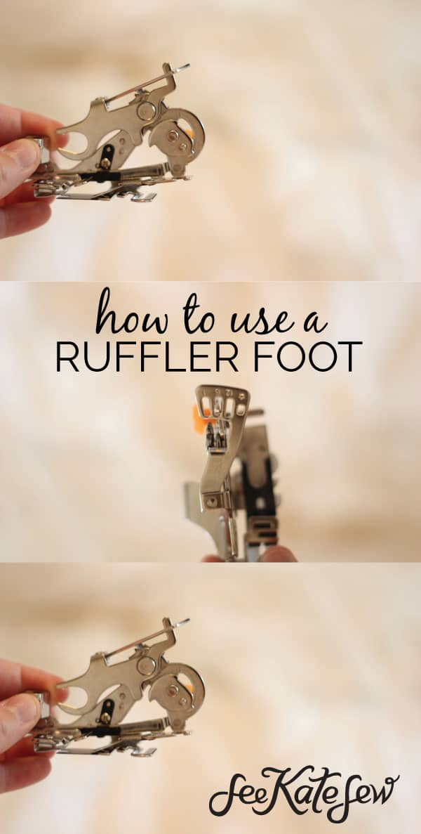 How to Use a Ruffler Foot   See Kate Sew