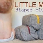 little man diaper clutch reveal