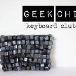 geek chic keyboard clutch