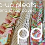the pop-up pleats camera strap cover PDF pattern