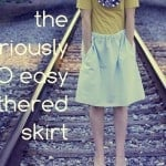 the seriously SO easy gathered skirt tutorial