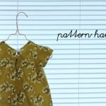 pattern hack: pleated front baby dress