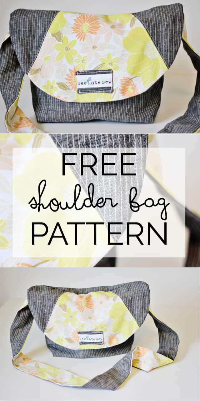 Free Shoulder Bag Pattern | how to make a linen satchel | sewing pattern tutorials | sewing tutorials | how to sew a bag | sewing tips and tricks | handmade bag tutorials | free sewing patterns || See Kate Sew