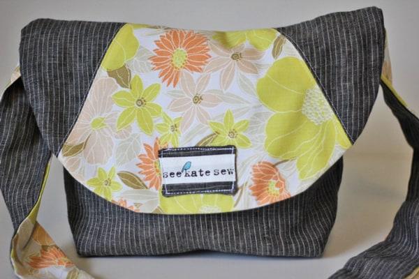 linen satchel tutorial - see kate sew