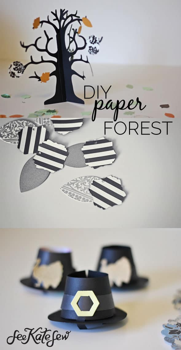 DIY Paper Forest See Kate Sew