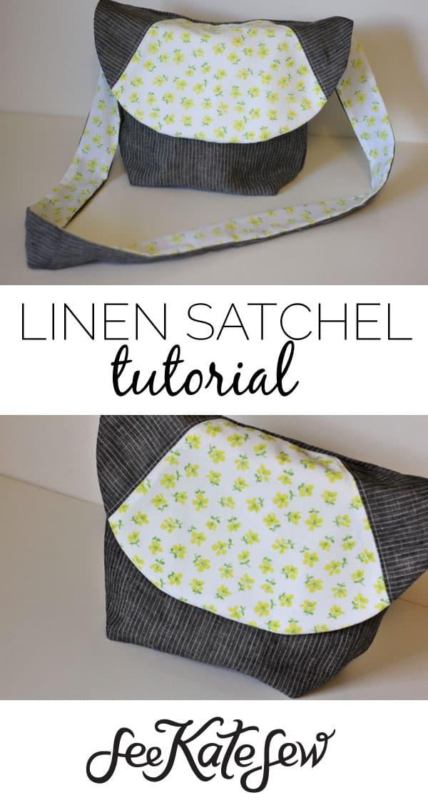 Linen Satchel Tutorial|See Kate Sew