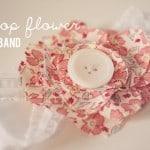 scallop flower headband tutorial v.2