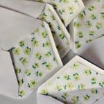 fabric lined envelopes!