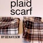 one yard plaid scarf