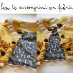 how to screenprint on fabric