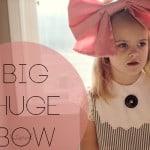 big huge pink bow tutorial