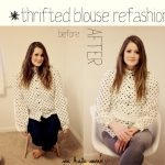 thrifted blouse refashion