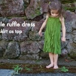 ruffles 2012 guest: skirt as top