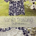 vanilla frosting shift dress tutorial