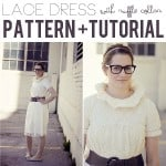 lace dress with ruffle collar pattern + tutorial