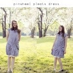 pinwheel pleats dress