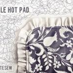 ruffle hot pad tutorial
