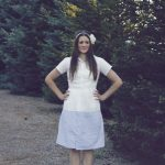 The Button Up Refashion Swap: Color Blocked Peter Pan dress