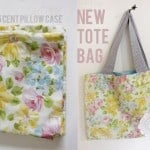 old pillowcase to new tote bag