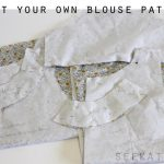 patternmaking: how to draft a basic blouse pattern from a blouse
