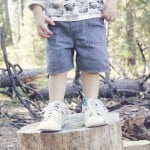 kid pants to kid shorts refashion