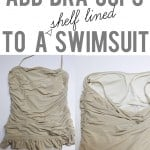 add bra cups to a shelf lined swimsuit