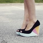 diy colorblock wedges