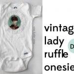 vintage lady onesie