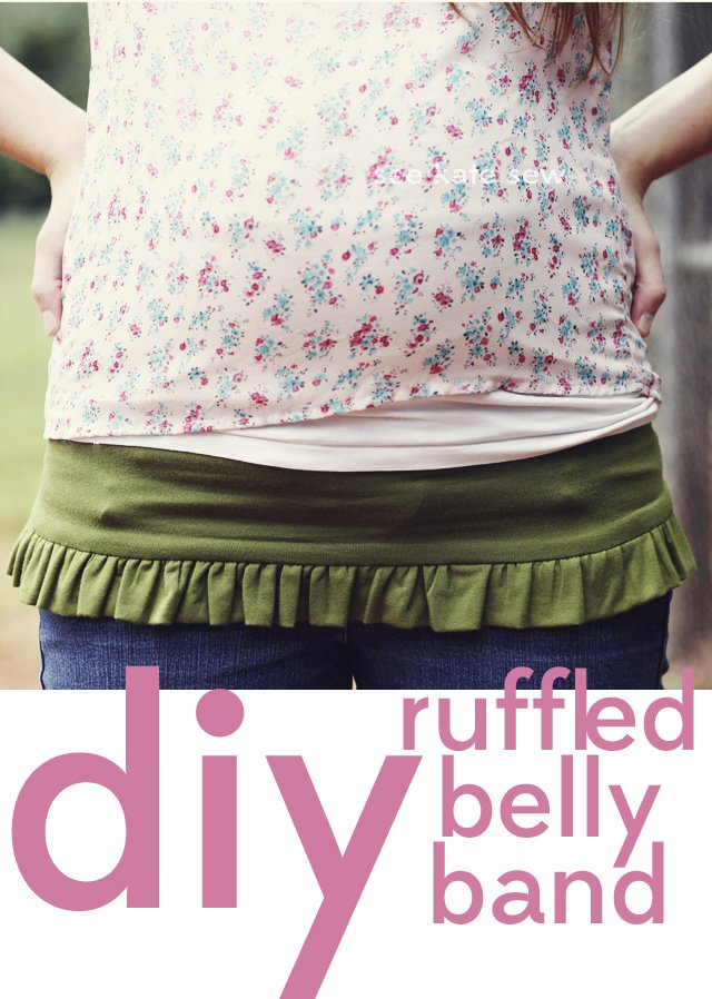 Belly Baby Ruffled Belly Band Tutorial See Kate Sew