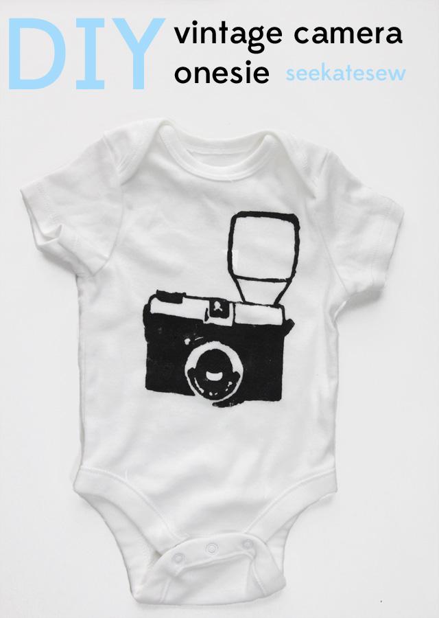 Diy Vintage Camera Onesie See Kate Sew