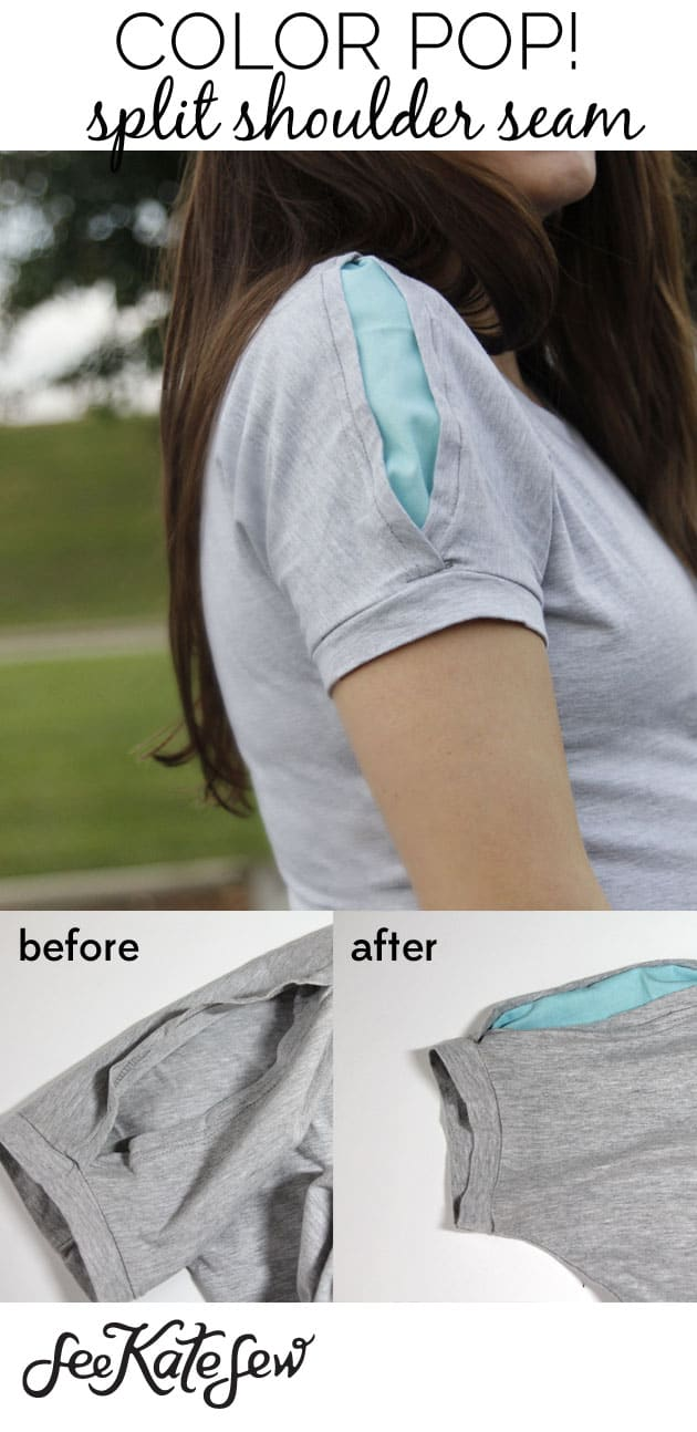 Color Pop Split Shoulder Seam|See Kate Sew