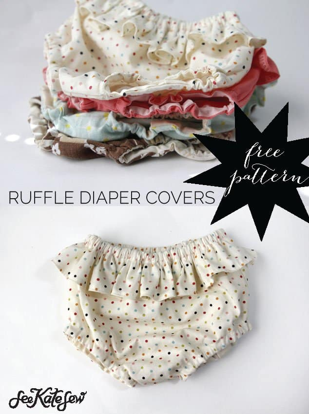 See Kate Sew| Ruffled Diaper Cover