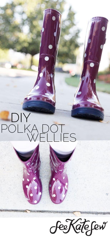 DIY Polka Dot Wellies|See Kate Sew