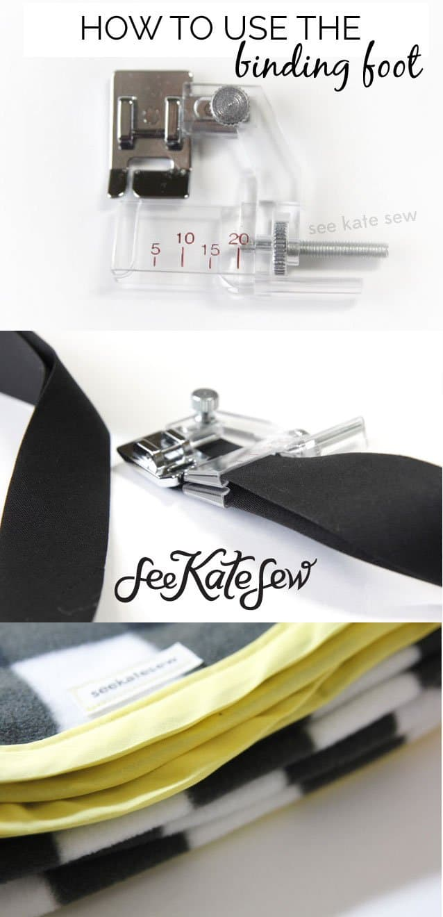 How to Use The Binding Foot | See Kate Sew