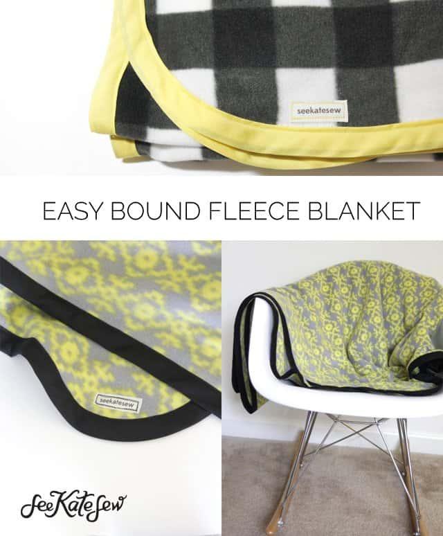 Easy Bound Fleece Blanket-See Kate Sew