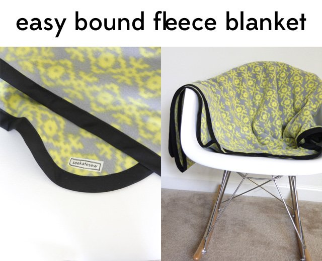 Easy Fleece Bias Tape Blanket Tutorial With Rounded Corners