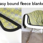 easy fleece + bias tape blanket tutorial (with rounded corners!)