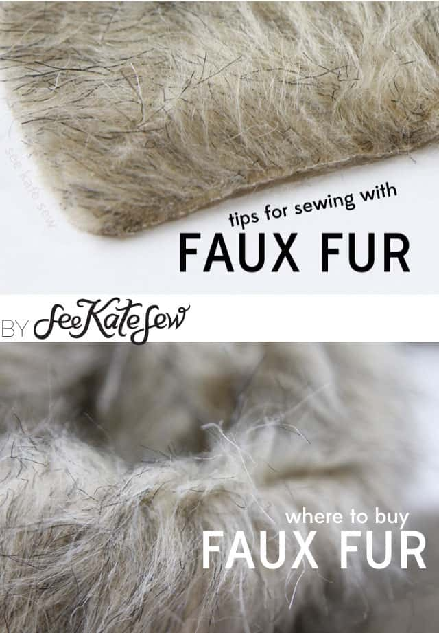 Faux Fur Tips | See Kate Sew
