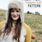 FAUX FUR: trapper hat (free pattern!)