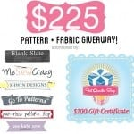 SEWING LOVER'S DREAM GIVEAWAY: $225+ of patterns + fabric!