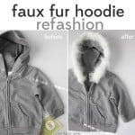 faux fur: hoodie refashion