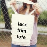 lace ruffles tote bag tutorial