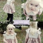 sugarplum peplum top + dress PDF pattern release!